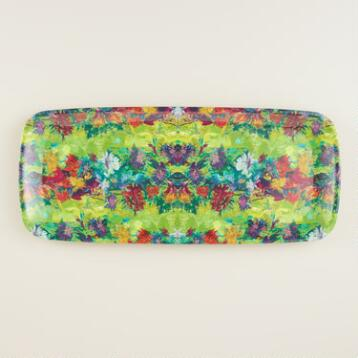 Melamine Splatter Oblong Serving Tray