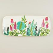 Melamine Floral Oblong Serving Tray