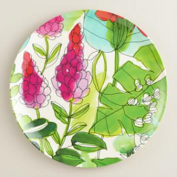 Floral Fiji Dinner Plates, Set of 4