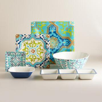 Sufi Tile Melamine Serveware Collection