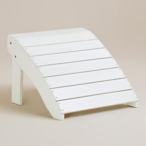 Antique-White Classic Adirondack Stool