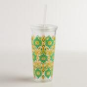 Bungalow Ikat Double Wall Tumbler