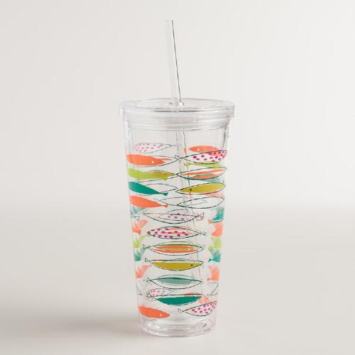Acrylic Mod Fish Double Wall Tumbler