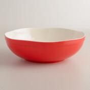 Warm Bettina Scalloped Serving Bowl