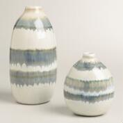 Gray Thai Stripe Ceramic Vases