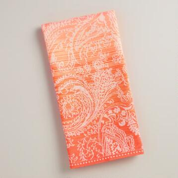 Pink and Orange Ombre Jacquard Kitchen Towel
