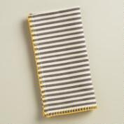 Yellow Striped Cotton Loire Napkins, Set of 4