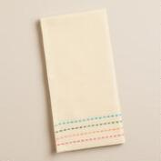 Natural Woven Border Chelsea Napkins, Set of 4