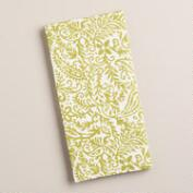 Green Paisley Cotton Napkins, Set of 4