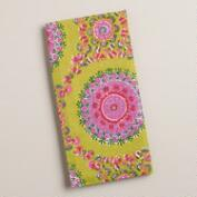 Green and Pink Medallion Cotton Napkins