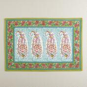 Paisley Leela Placemats, Set of 4