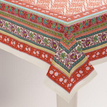 Floral Medallion Dasha Tablecloth