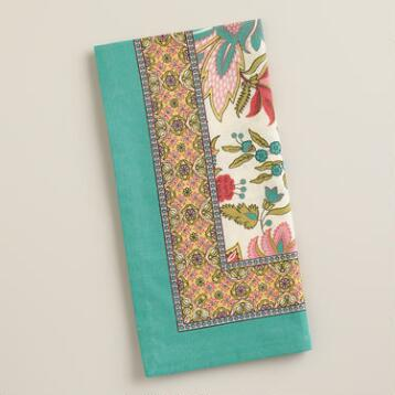 Palampore Floral Reeya Napkins, Set of 4