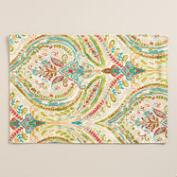 Multicolor Floral Ogee Cotton Placemats, Set of 4