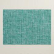 Green and Aqua Vinyl Graffiti Placemats, Set of 4