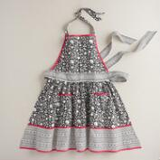 Black, White and Fuchsia Print Apron