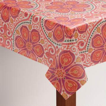 Floral Tile Nomad Oilcloth Tablecloth