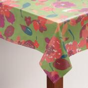 Floral Parisian Bouquet Oilcloth Tablecloth