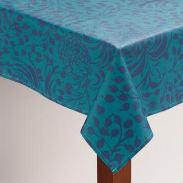 Floral Underwater Oilcloth Tablecloth