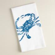 Crab Flour Sack Kitchen Towels, Set of 2