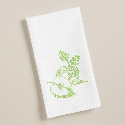 Apple Waffle Weave Kitchen Towels, Set of 2