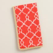 Coral Lattice Ethel Napkins with Jute Trim, Set of 4