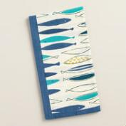 Blue Fish Napkins, Set of 4