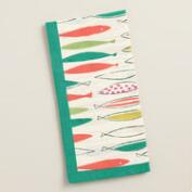 Coral and Aqua Fish Napkins, Set of 4