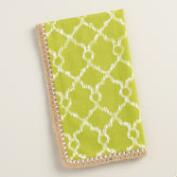 Green Lattice Ethel Napkins with Jute Trim, Set of 4