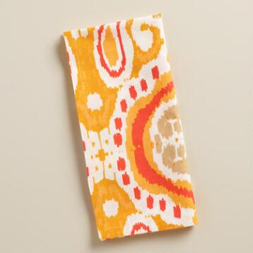 Coral Ikat Bungalow Napkins, Set of 4