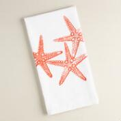 Starfish Flour Sack Kitchen Towels, Set of 2
