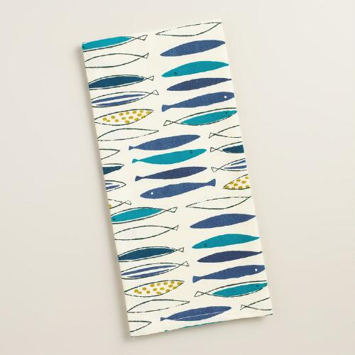 Blue Fish Kitchen Towels, Set of 2