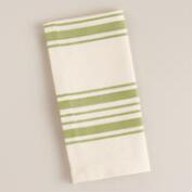 Green Villa Stripe Napkins, Set of 4