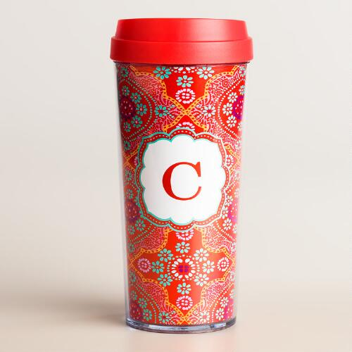 """C"" Monogram Travel French Press"
