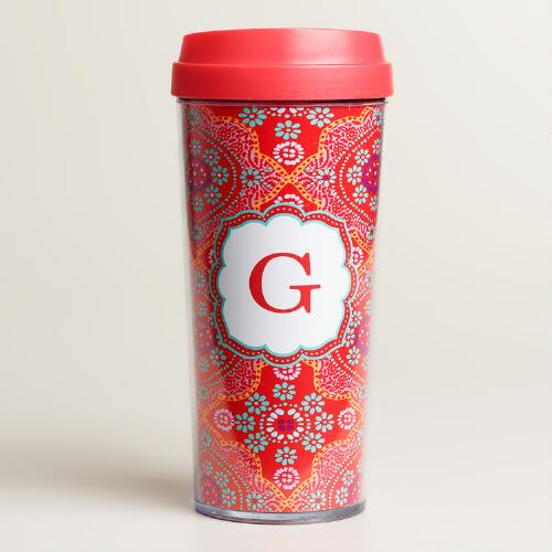 """G"" Monogram Travel French Press"