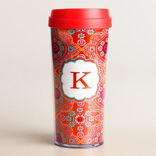 """K"" Monogram Travel French Press"