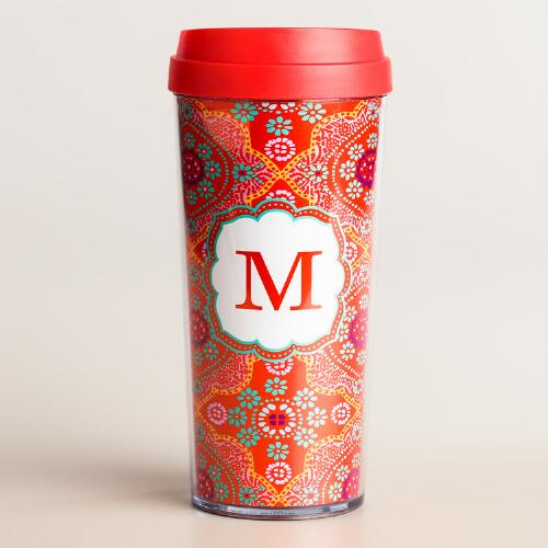 """M"" Monogram Travel French Press"