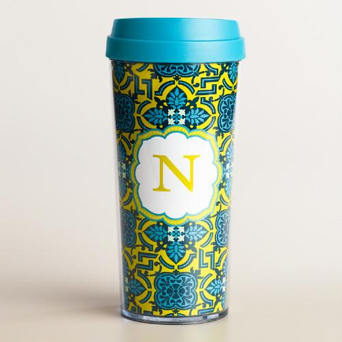 """N"" Monogram Travel French Press"