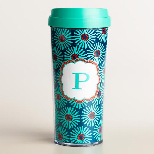 """P"" Monogram Travel French Press"