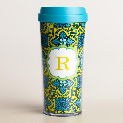 """R"" Monogram Travel French Press"