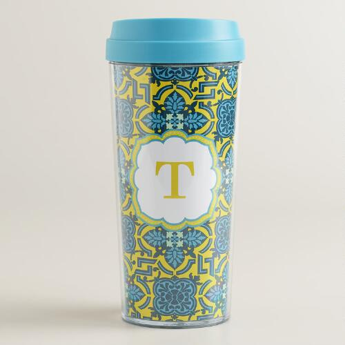"""T"" Monogram Travel French Press"