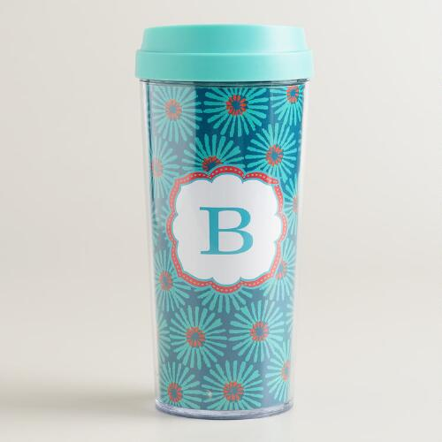 """B"" Monogram Travel French Press"