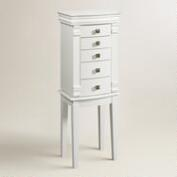 White Kari Jewelry Armoire