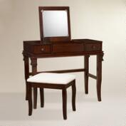 Walnut Brown Kari Vanity Set