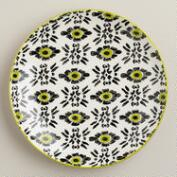 Green Stripe Holland Park Plates, Set of 4