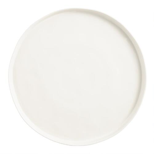 Ivory Organic Rimmed Charger Plates, Set of 4