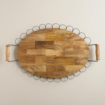 Wood Edin Serving Tray