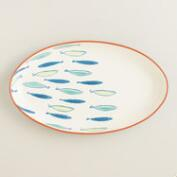 Riviera Fish Terracotta Serving Platter