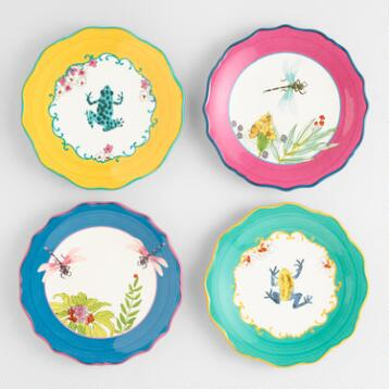 Fiji Salad Plates, Set of 4