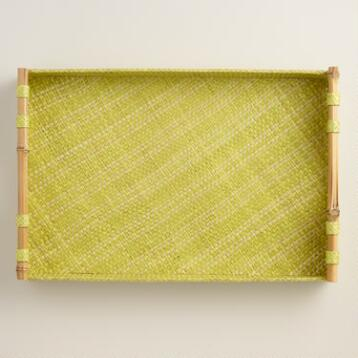 Apple Green Stripe Pandan Tray